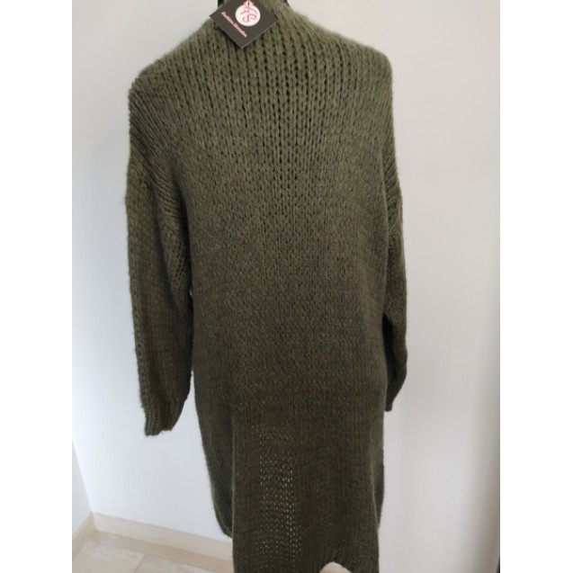 FS Collection Cardigan Army Green Half-long