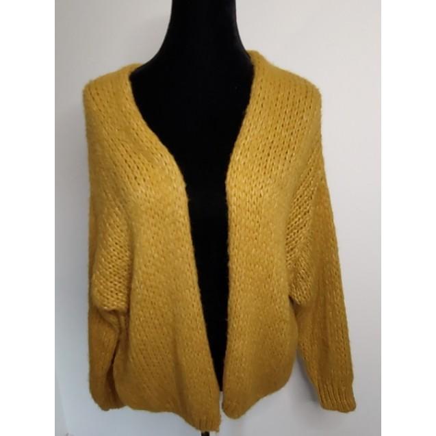 FS Collection Cardigan Ocher Yellow Short